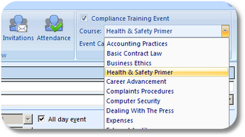 Select a training course